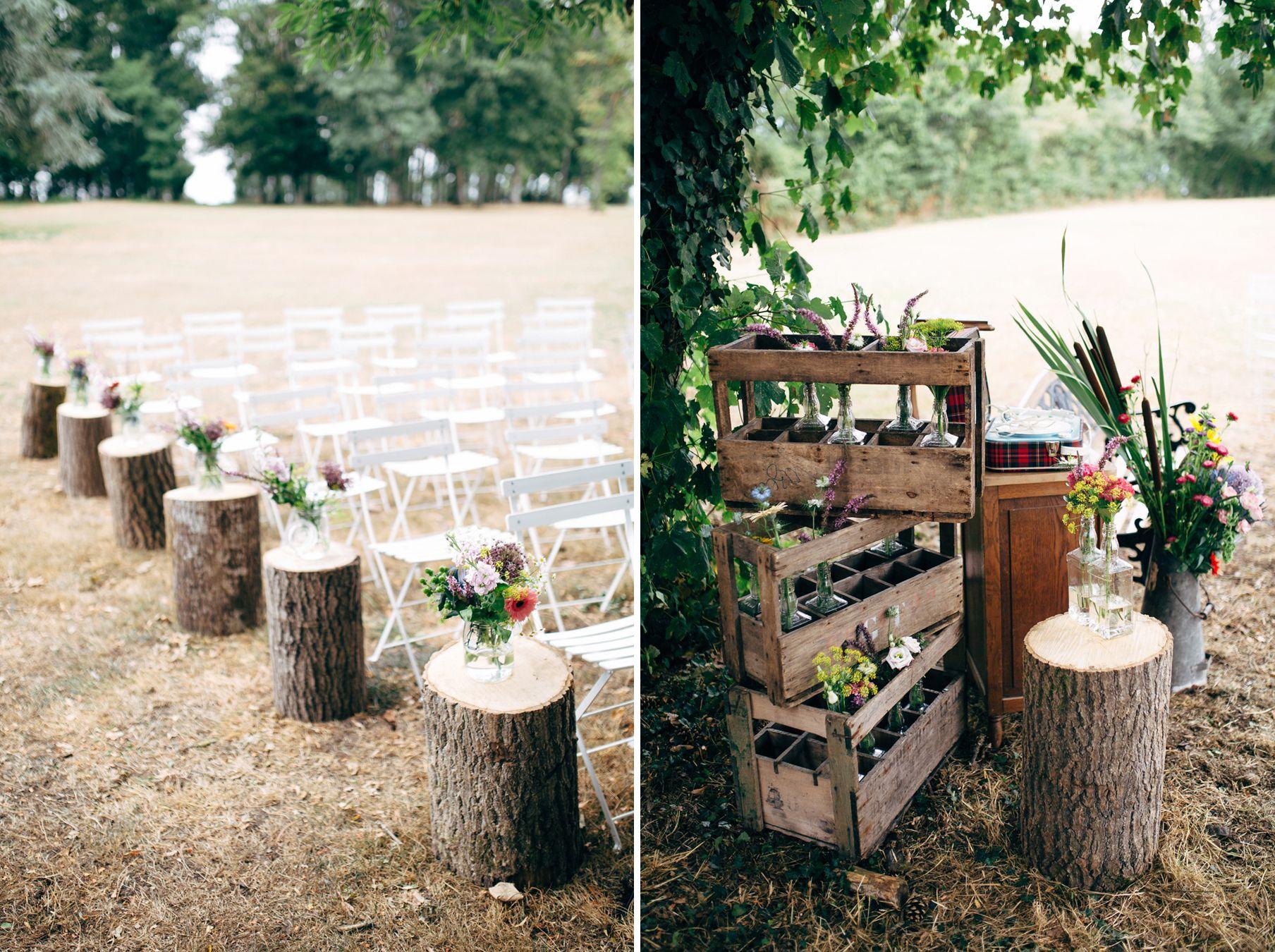 C r monie la que esprit foret nature rondins de bois for Decoration champetre campagne