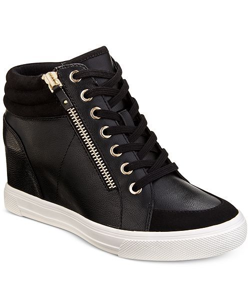 d80b922fcd2 ALDO Kaia Lace-Up Wedge Sneakers - Sneakers - Shoes - Macy s