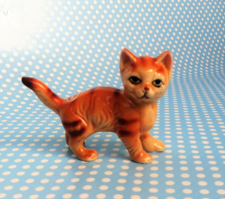 Ginger Cat Bone China Figurine Ginger Cats Cat Lovers Kittens
