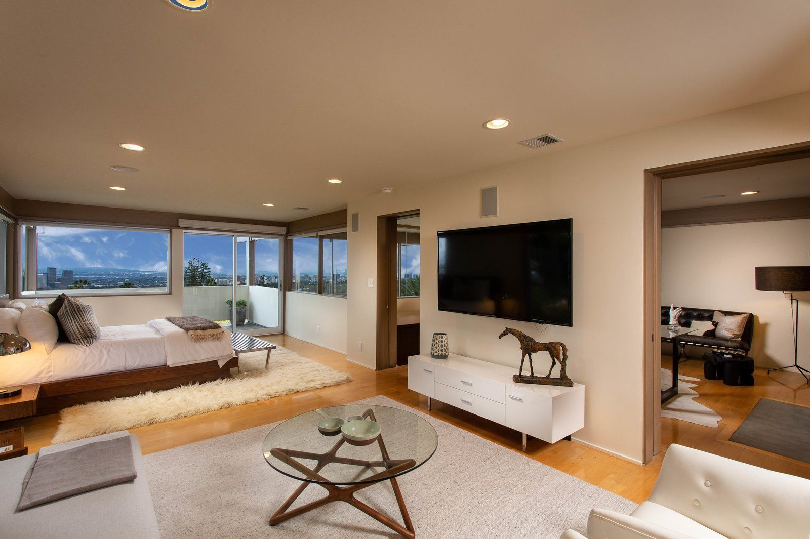 Master bedroom lighting  Photo  of  in A Widely Published Midcentury in LA Hits the