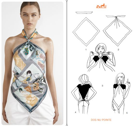 Hermes cards how to tie a scarf hermes scarf styling ideas more on fashioned by love a scarf - Hermes tuch binden ...