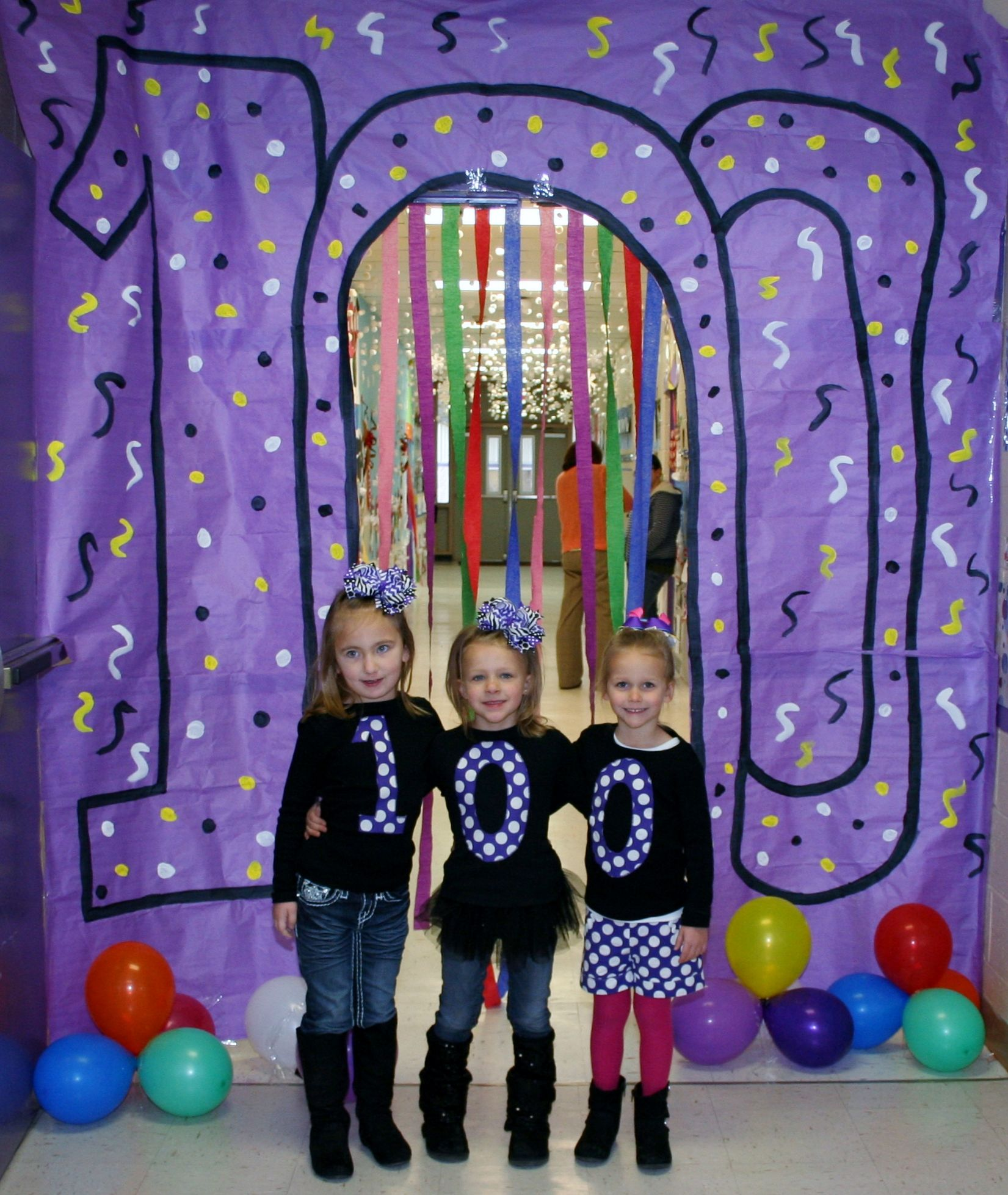100th day of school ideas | Winter Classroom Door ...
