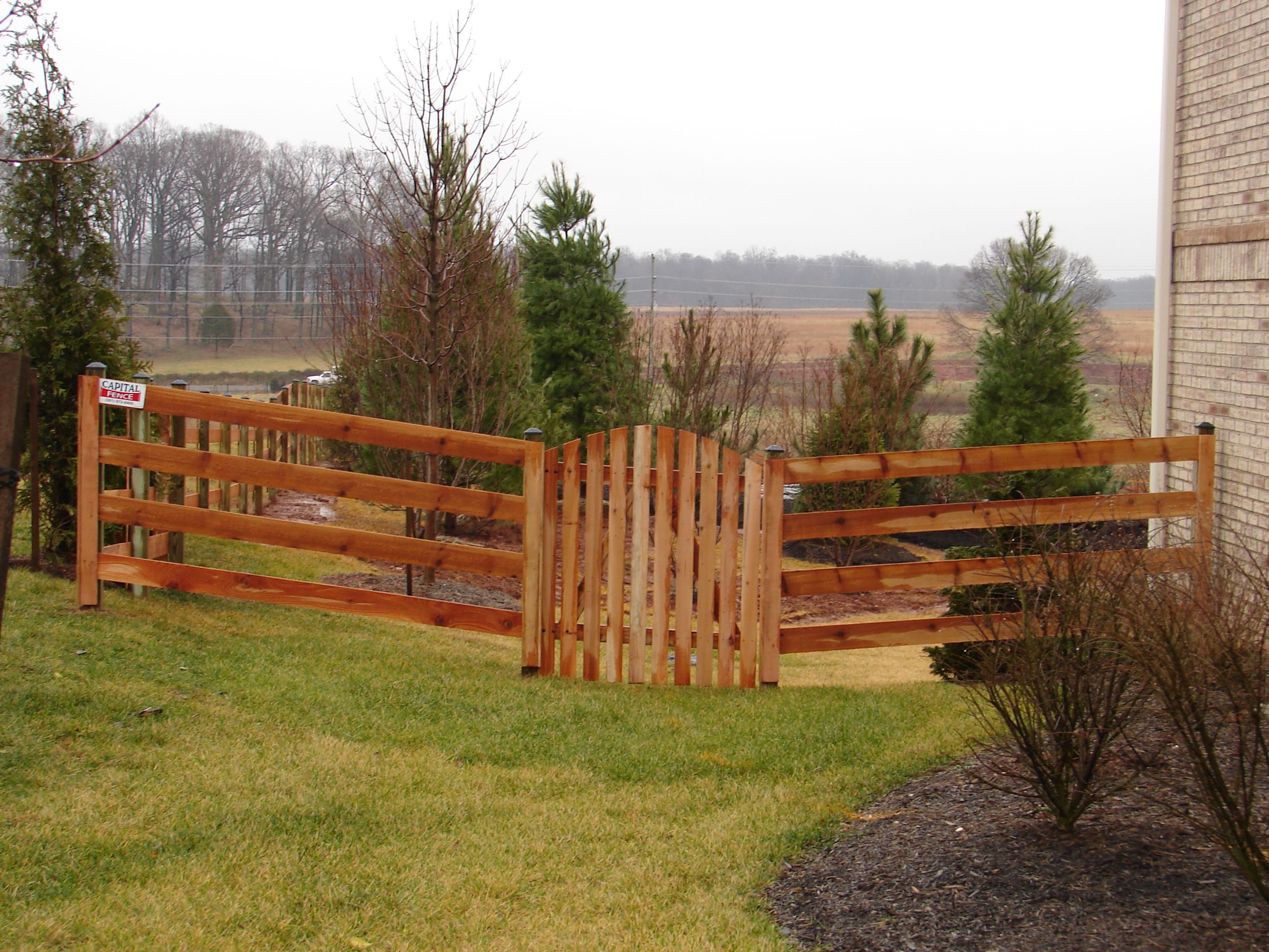 4 Board Paddock Fence With Single Gate Split Rail Fence Rail Fence Fence