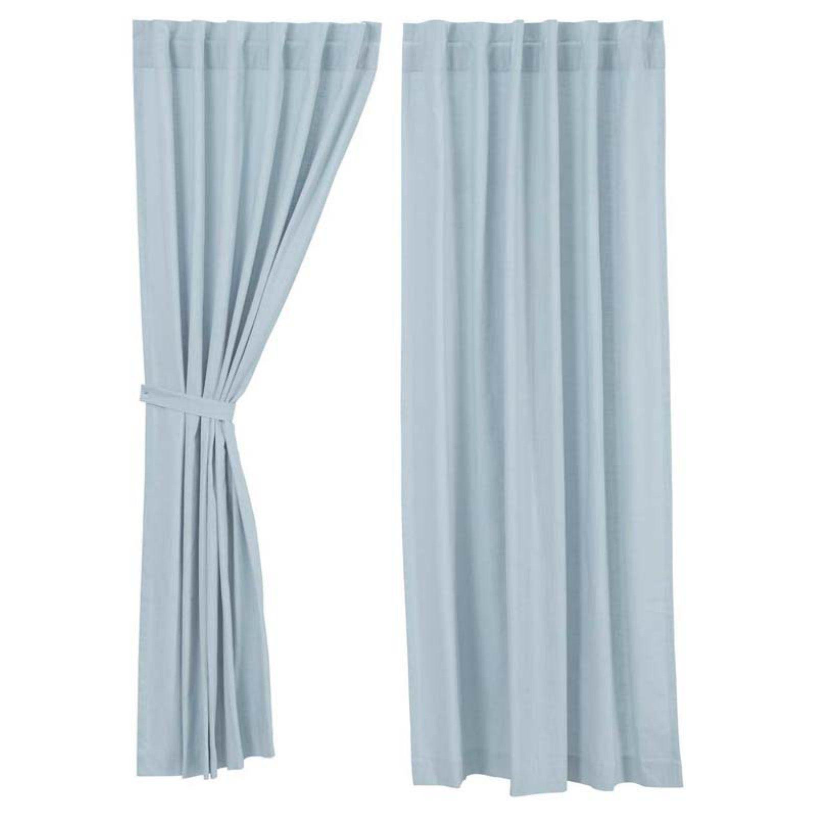 Vhc Brands Regina Curtain Panel Set Light Blue Blue Panels Panel Curtains Blue Curtains