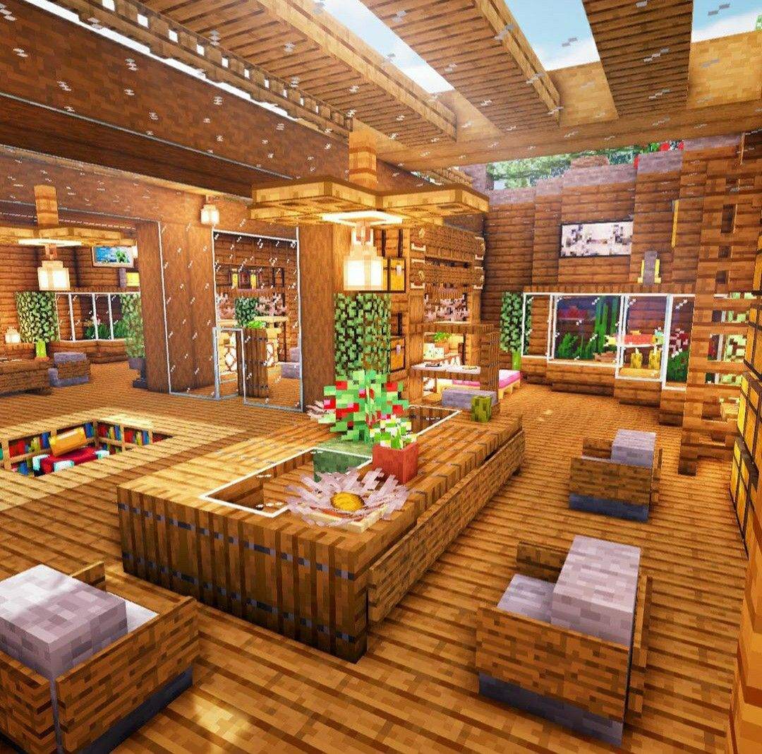 LivingRoom Minecraft Designs   Easy minecraft houses ...