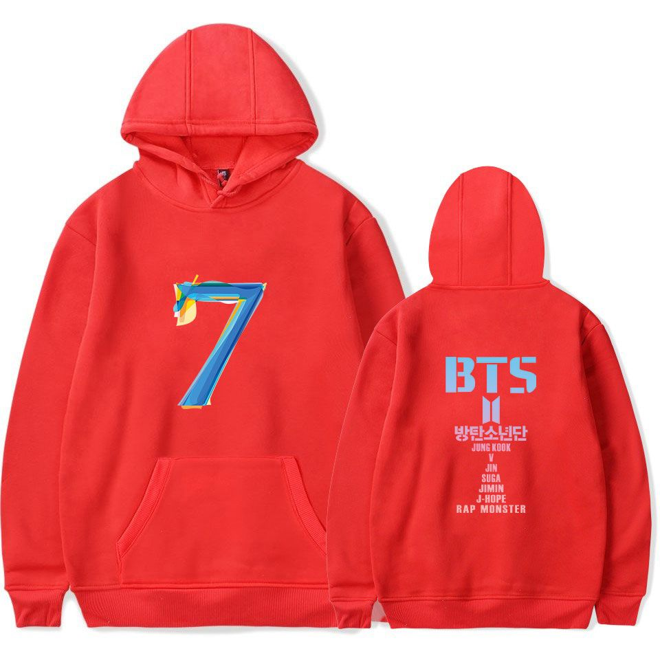 Yicool Kpop Hoodie Love Yourself Hooded Sweatshirts Jimin Suga Jung Kook V Black Hoodie Fans Merchandise
