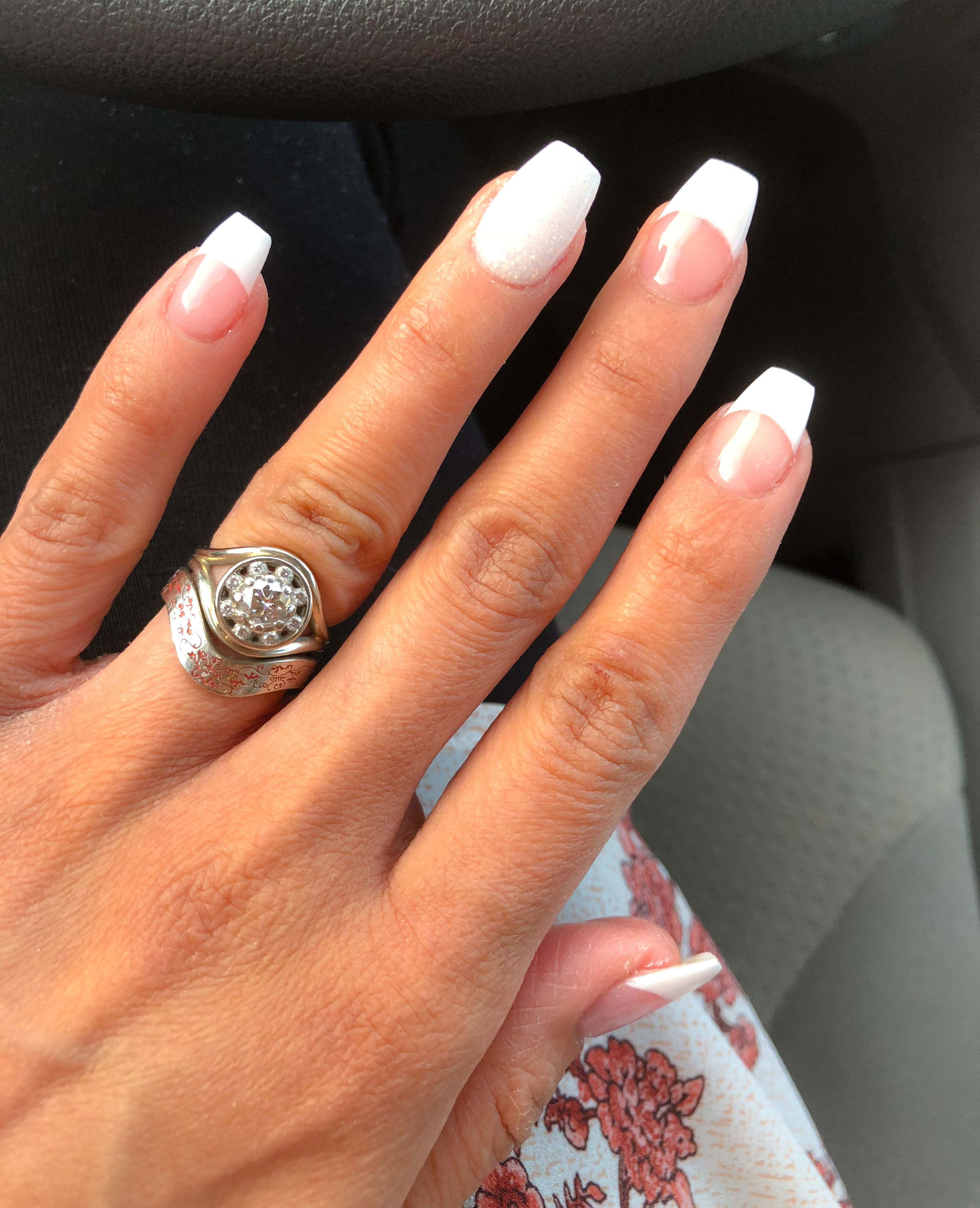 new set nexgen french manicure coffin-shaped ... my natural nails ...