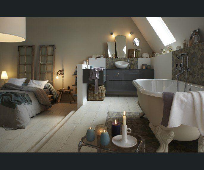 Chambre Adulte Salle de bains Blanc/beige/naturel JACOB DELAFON
