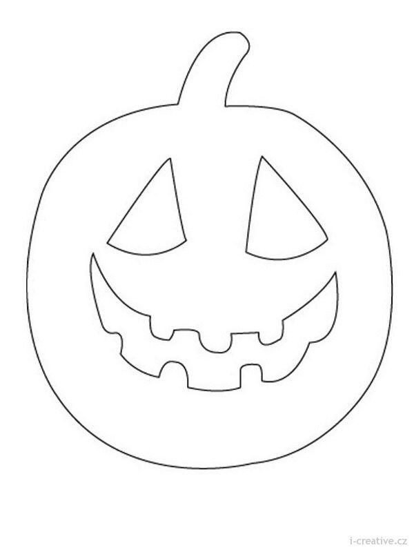 Omalovánka -dýně | Podzimní inspirace | Pinterest | Halloween ...