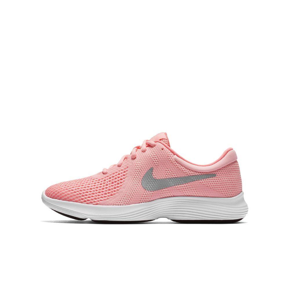 Nike Revolution 4 Big Kids' Running Shoe Size 4.5Y (Pink)