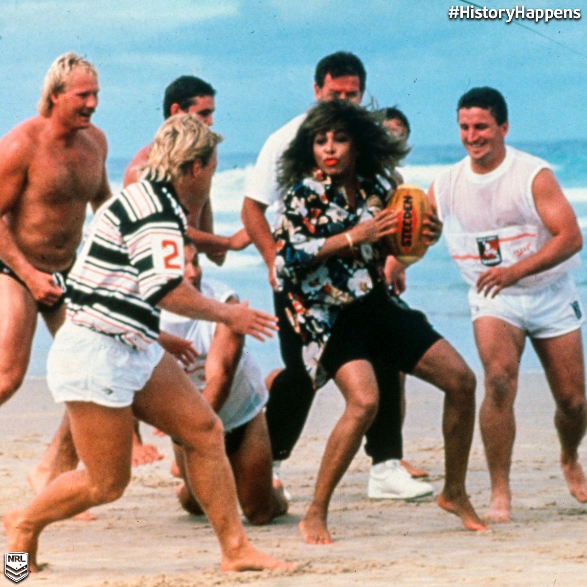 The Day Tina Turner Visited The Gold Coast Seagulls Nrl Where Historyhappens Rugby League Nrl League