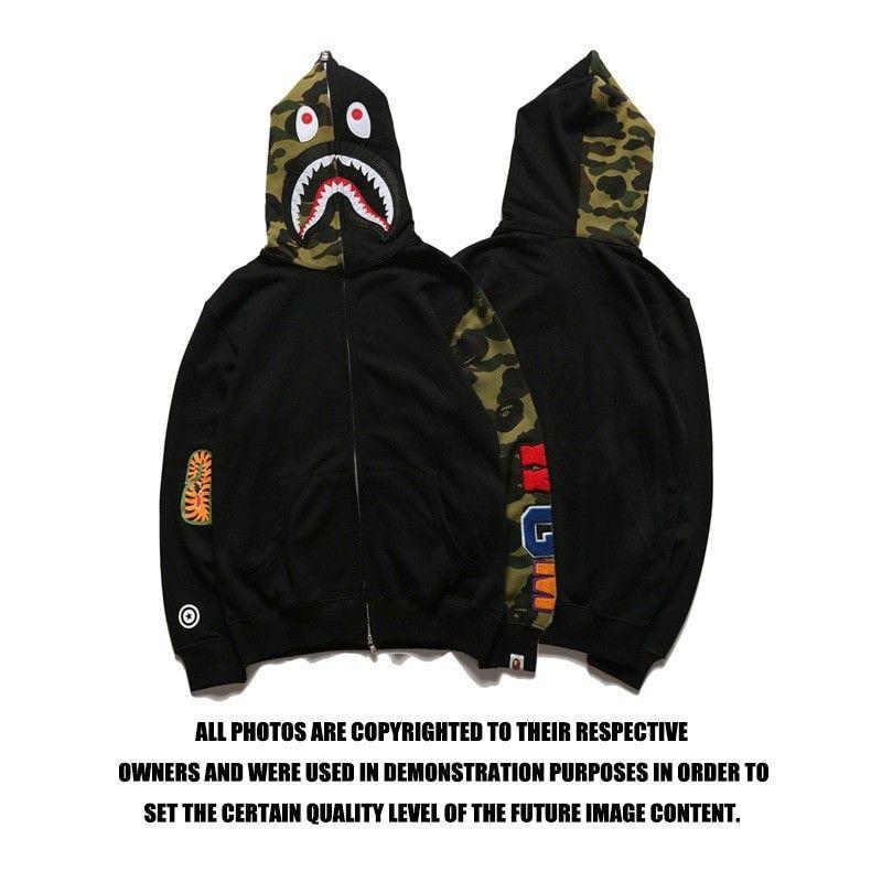 9d7ea7c2ec93 bape shark hoodie sweatshirt European and American Tide brand bathing ape