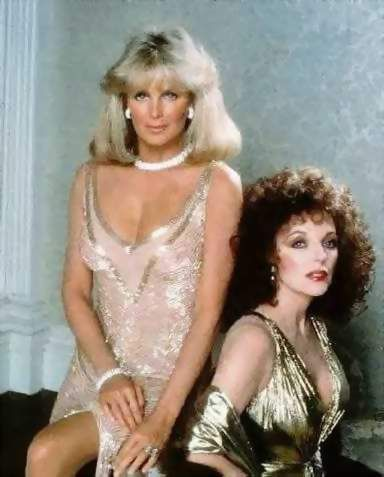 Alexis And Crystal Linda Evans Joan Collins Fashion