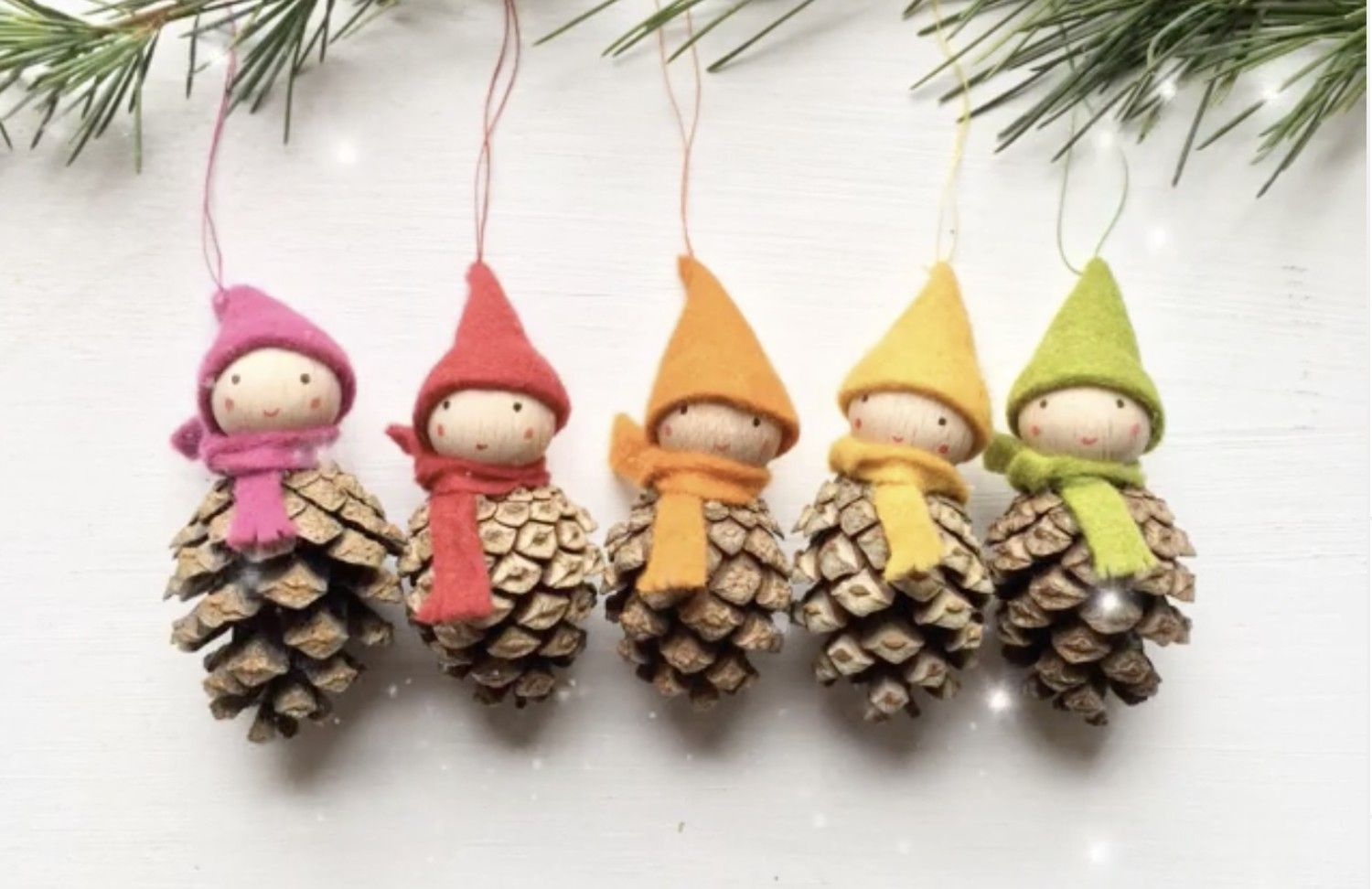 These Cute Gnome Ornaments Made Out Of Pine Cones Are A Fun Holiday Craft Pinecone Crafts Kids Fun Holiday Crafts Pine Cone Crafts