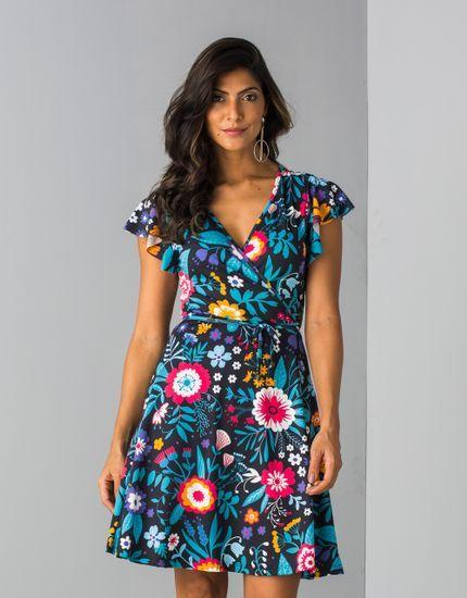 87aed03ad6 Vestido Sarah Médio Estampa Floral Mexicana - zinzane - mobile ...