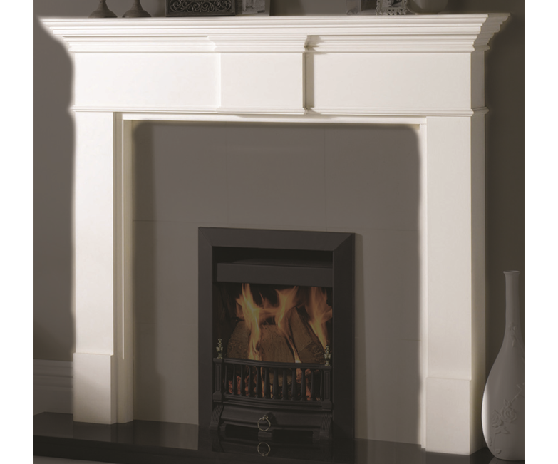 hite marble fireplace
