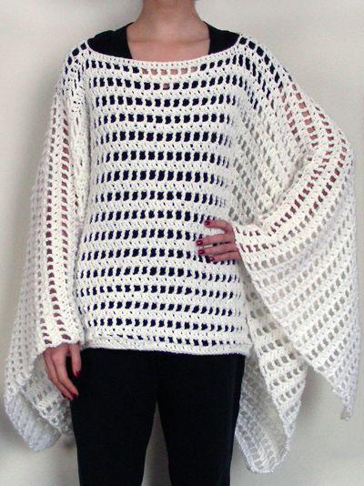 Crochet Spot » Blog Archive » Crochet Pattern: Striped Poncho - Crochet Patterns, Tutorials and News