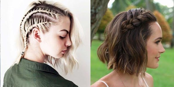 Gorgeous Short Hairstyles with Side Braids!
