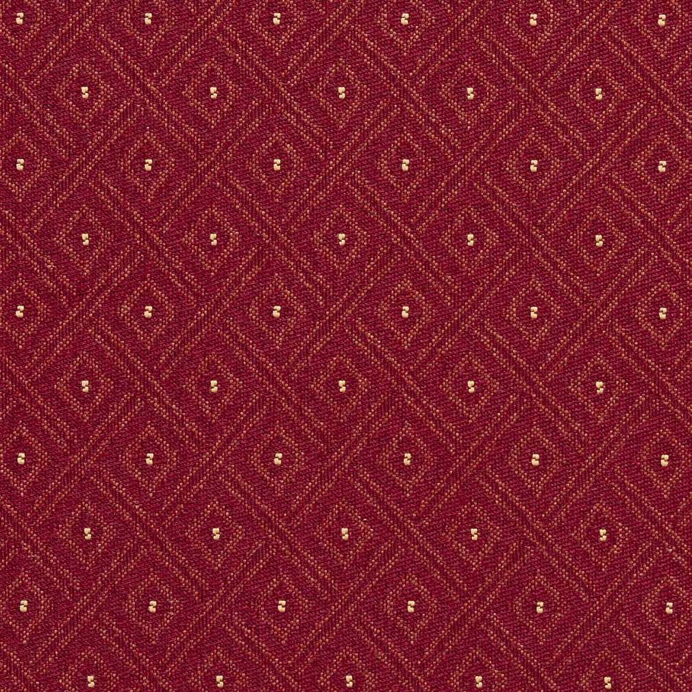 F732 burgundy red diamond crypton contract grade upholstery fabric by the yard