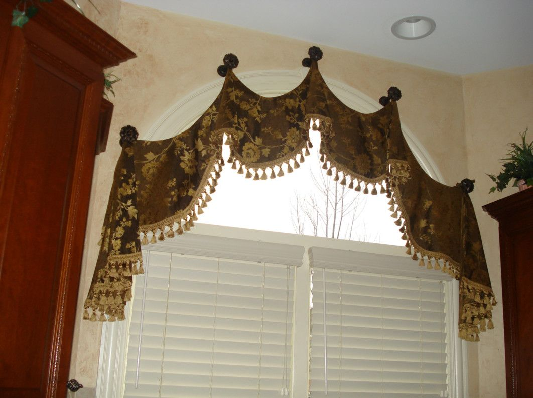Arched Bay Window Treatments