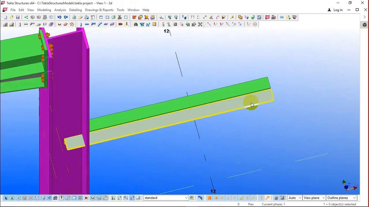 Tekla Steel Project (22) - دورة اعداد مهندس تصميم منشات