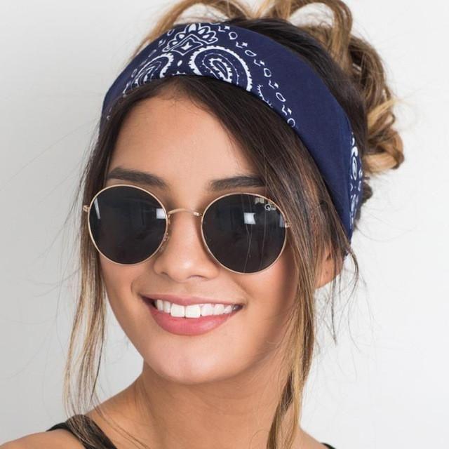 Brand New Women hair accessories 2017 Fashion Bandana Scarf Square Head  Female Bandanas Headwear Headbands Women 58 58cm 860ea2ffd7e
