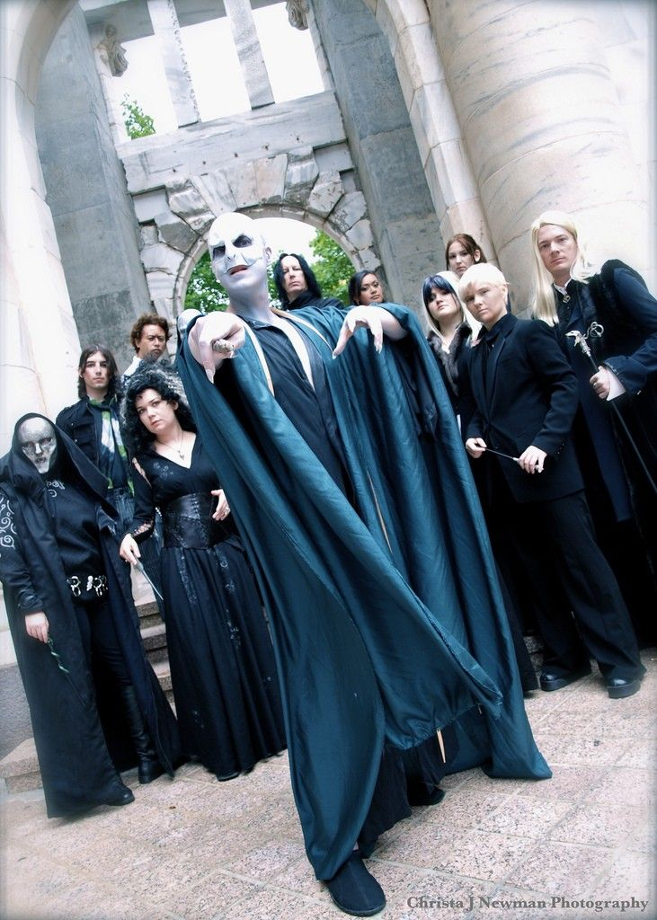 Boys Girls Death Eater Harry Potter Voldermort Fancy Dress Up Costume Outfit