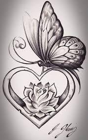 18 rose butterfly tattoo ideas