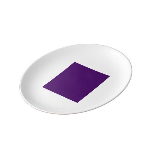 Art Deco Bread Plate by Janz Purple Porcelain Plate