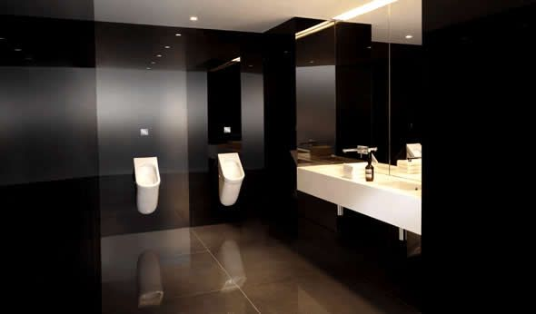 Office Bathroom Designs I Love The All Black But Wanted To Point Out The Sink Design