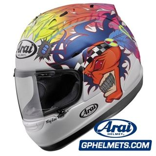 Arai Helmet Wild Indian Scott Russell Replica Motorcycle