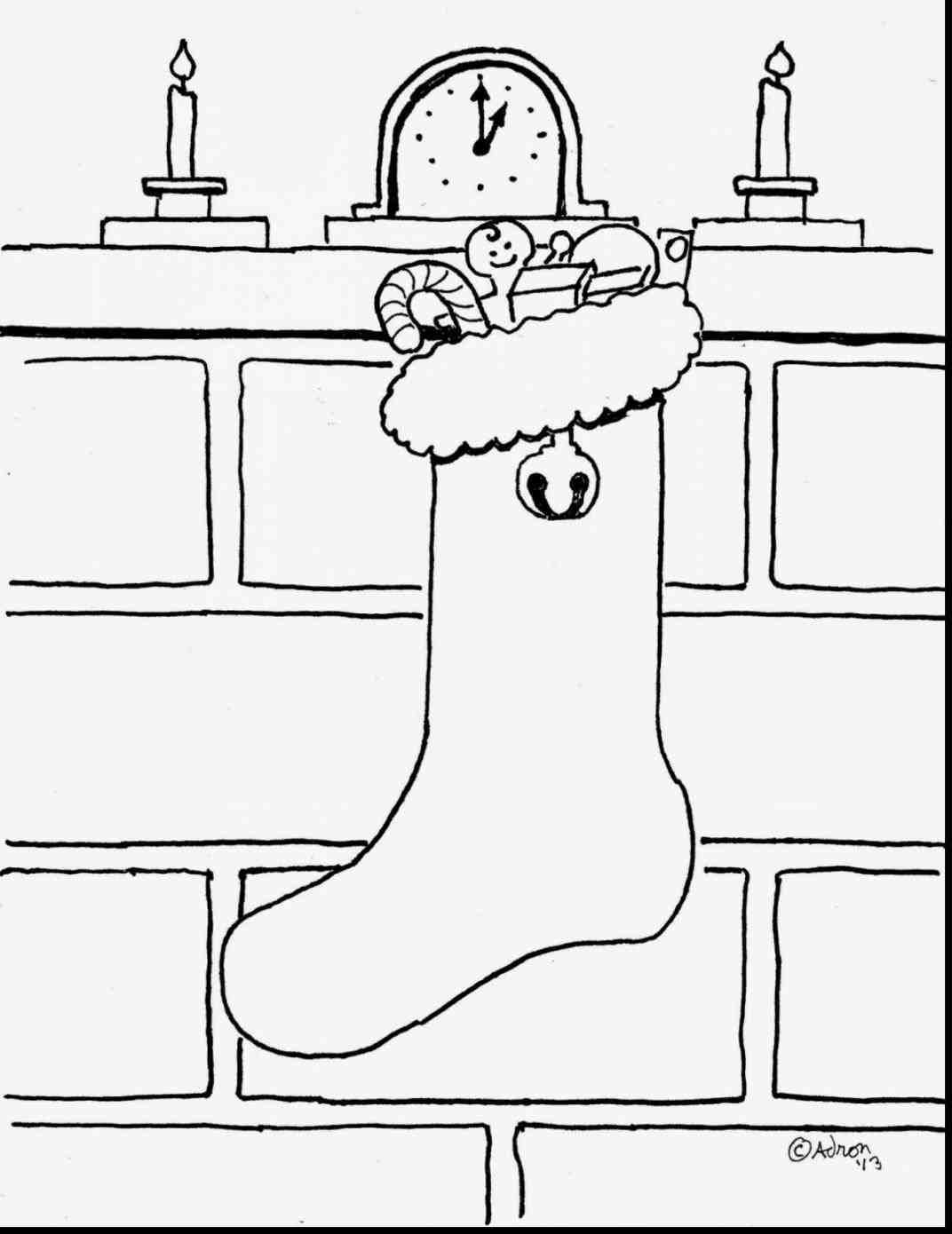 blank christmas stocking coloring page Coloring pages