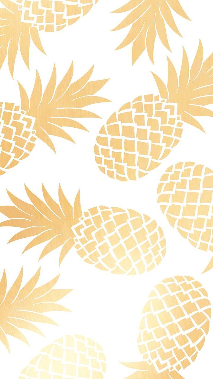 Metallic Gold Pineapple Background Pineapple Wallpaper Gold Pineapple Wallpaper Cute Pineapple Wallpaper