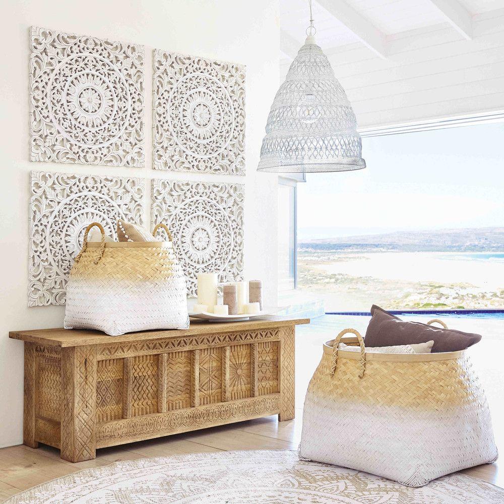 2 corbeilles tress es bahamas maisons du monde fati. Black Bedroom Furniture Sets. Home Design Ideas