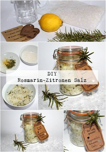 DIY Rosmarin-Zitronen Salz - dekoration k che selber machen