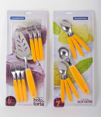 Tramontina Spoon, Fork, and Cake Server set