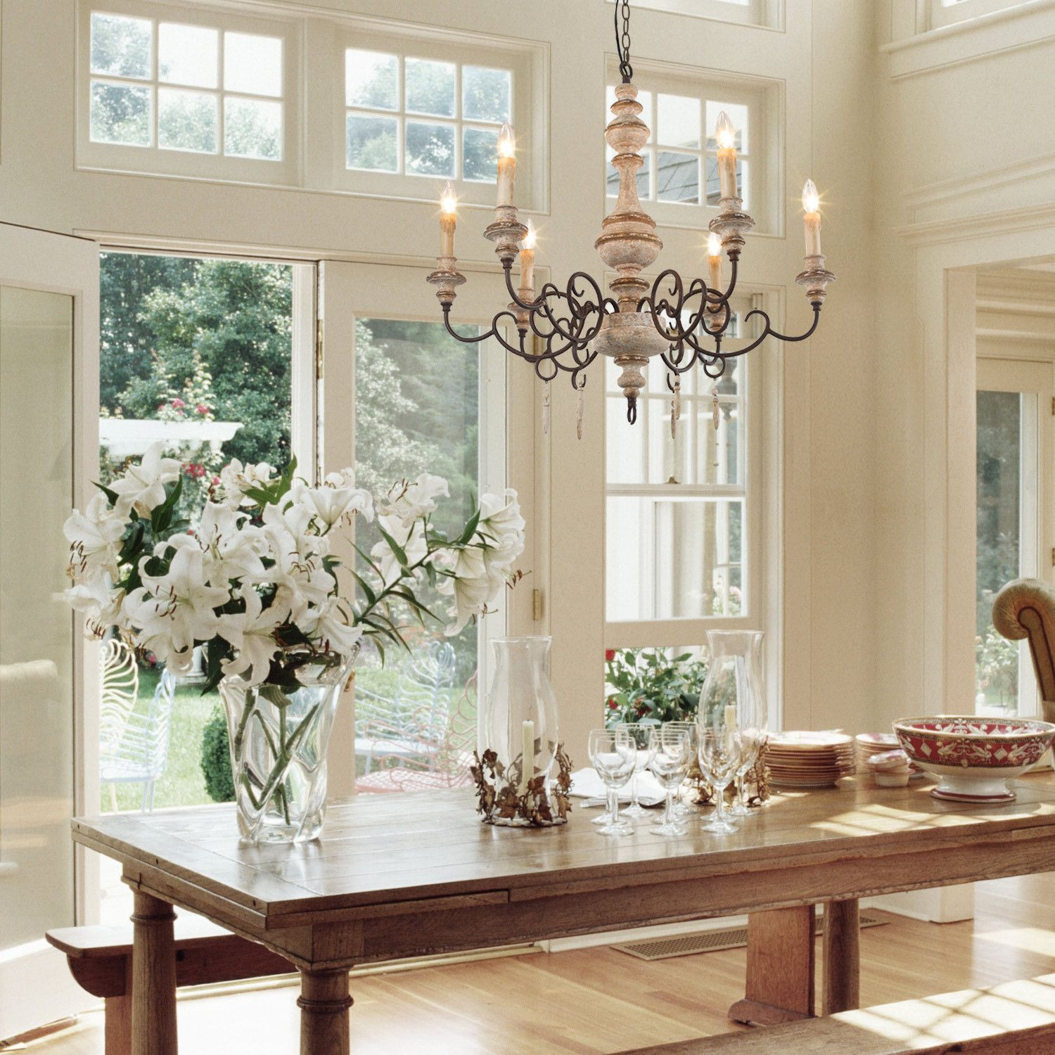 Weathered Cottage Chandelier 6 Lights in 2020 French