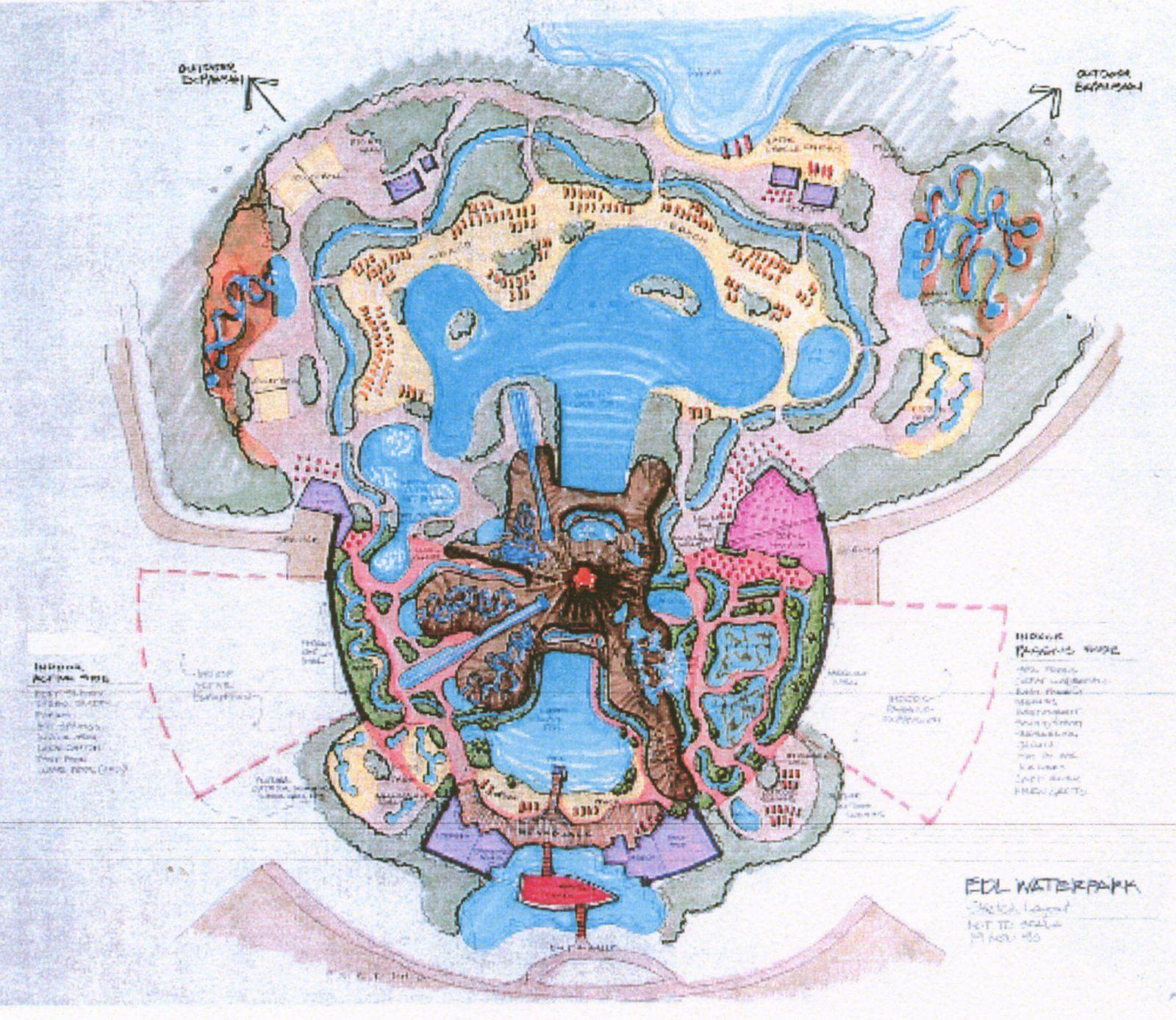Disney's Lava Lagoon Water Park, Disneyland Paris (never