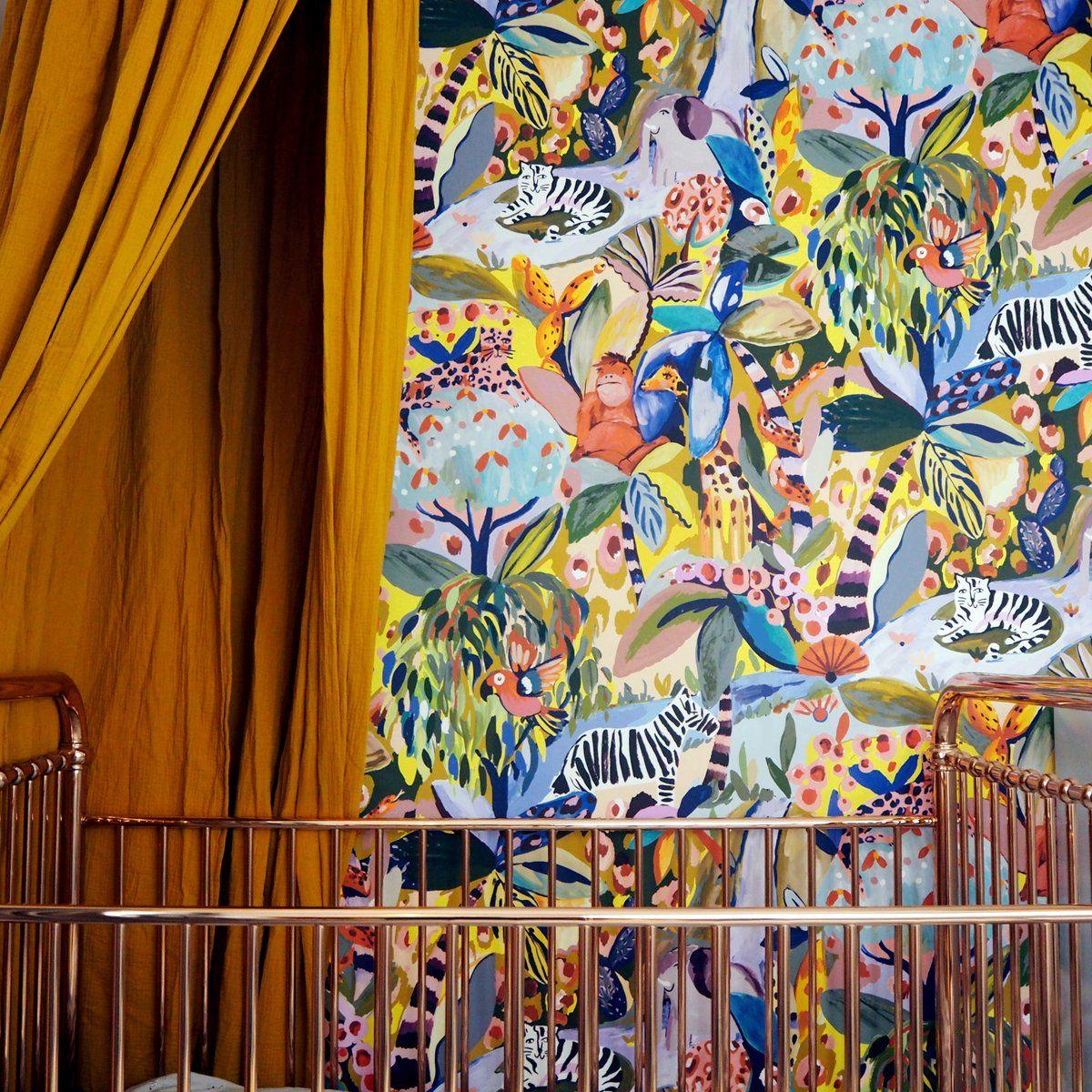 Pink Miami Shells Wallpaper Jungle mural, Jungle