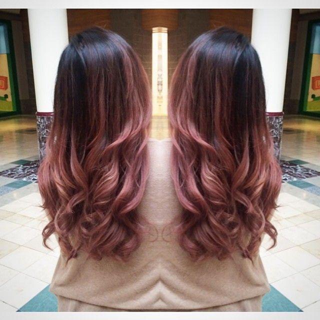 Rose Pink Ombre Dip Dye Hair Pinterest Hair Rose Gold