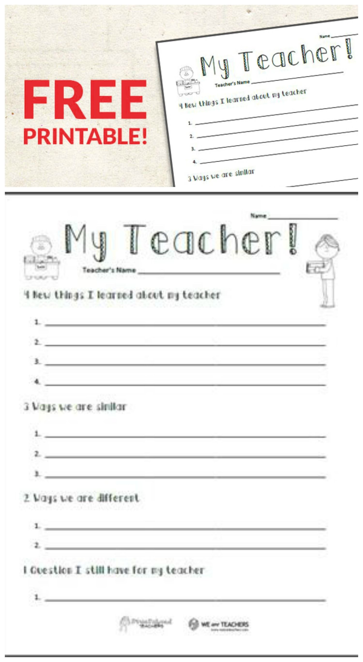 Teach Child How To Read Printable Getting To Know You