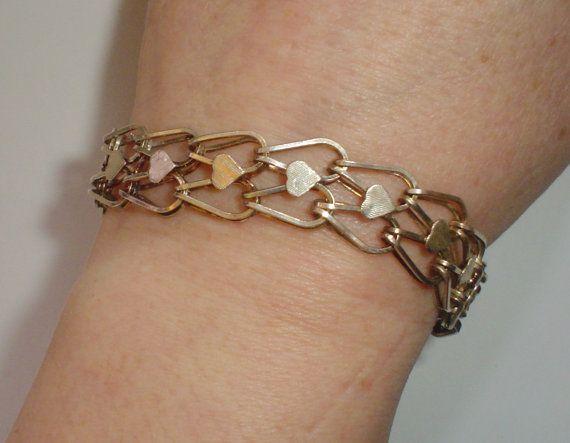 Sterling silver charm bracelet starter vintage by VintagePointUK
