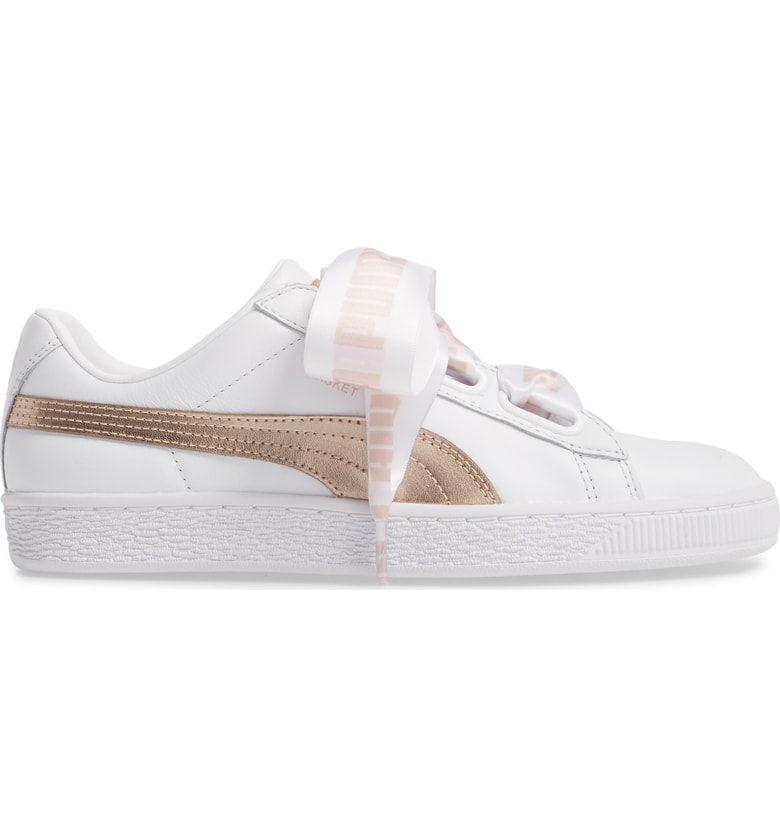 new styles 41016 6c9c6 Basket Heart Sneaker, Alternate, color, White/ Rose Gold ...
