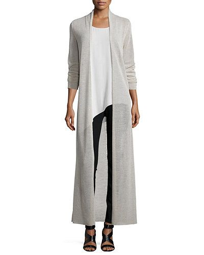 Eileen Fisher crepe jersey cardiganin your choice of color. Approx ...