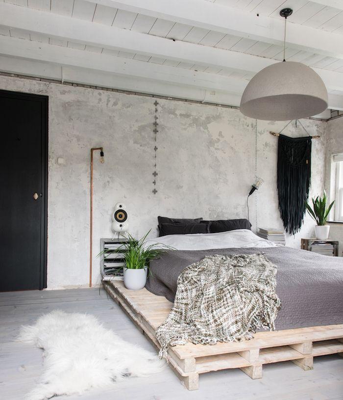 1001 id es top pour d corer une chambre style industriel chambre coucher chambre deco - Plante verte chambre a coucher ...