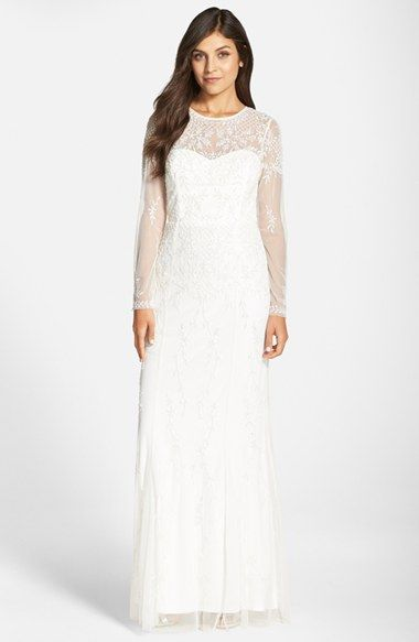 Adrianna Papell Beaded Lace Overlay Gown available at #Nordstrom ...