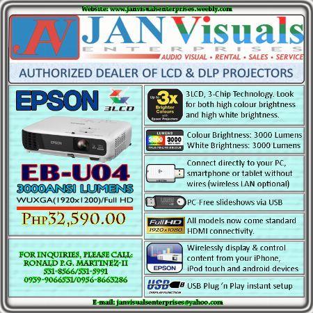 Epson EB-U04 LCD Projector, Epson EB-U04 Home Theater