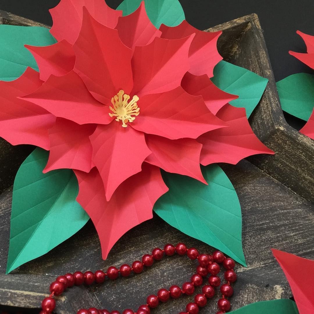 Paper Poinsettia Construction Paper Flowers Christmas Flowers Paper Flowers