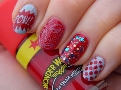 Wonder woman nails get this plate