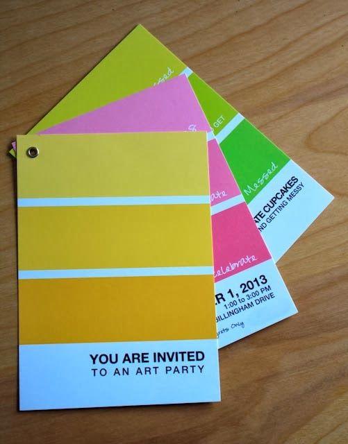 angenuity: An Art Birthday Party Invitation